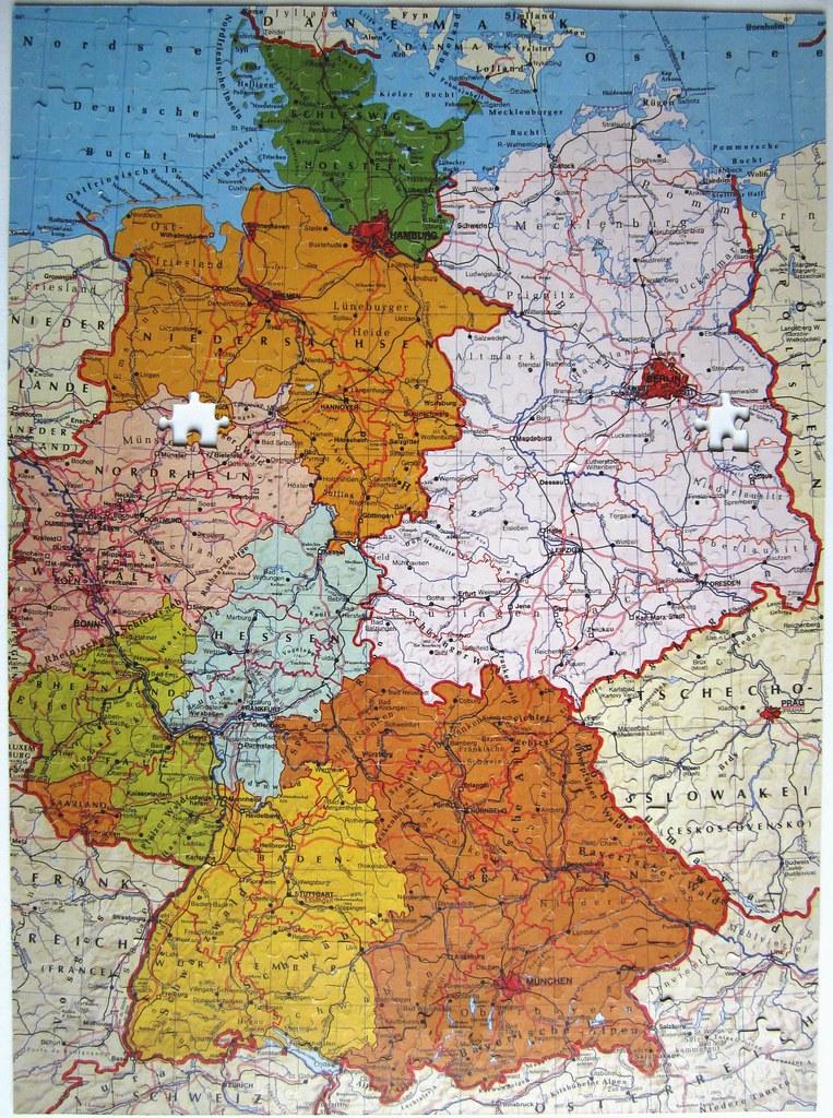 Deutschlandkarte Politisch Geografisch Wie Vom Verkaufer V Flickr
