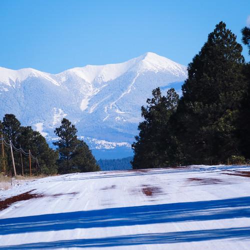 route66 arizona abandon park snow sanfrancisco peaks coconino county landscape