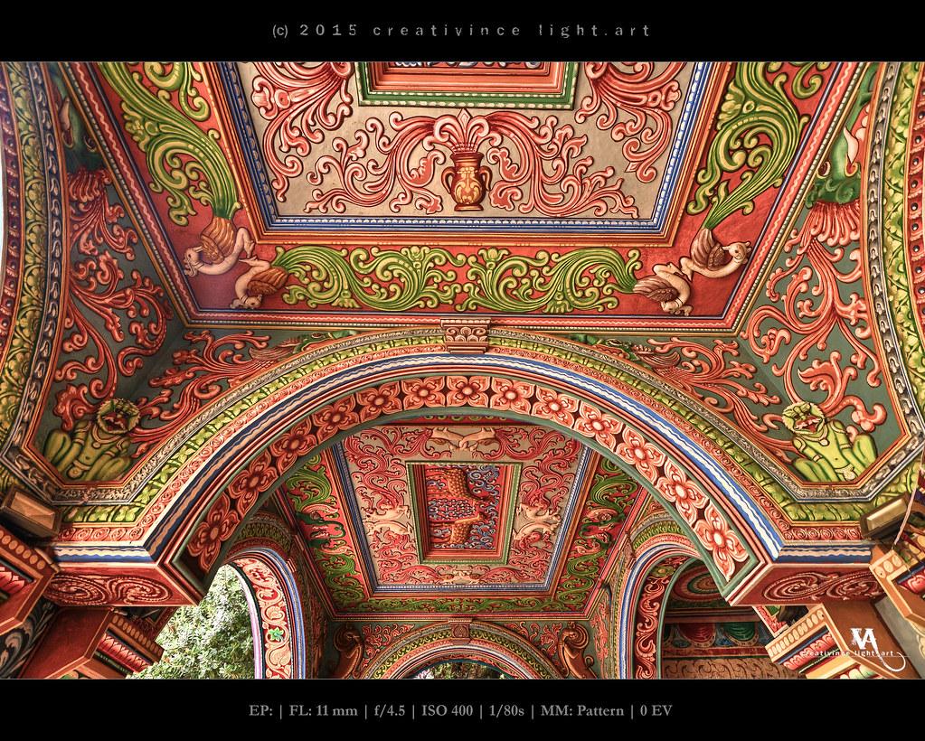 Saraswati Mahal Library ceiling art, Thanjavur Maratha Pal… | Flickr