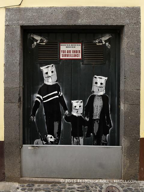 Door art: Under surveillance