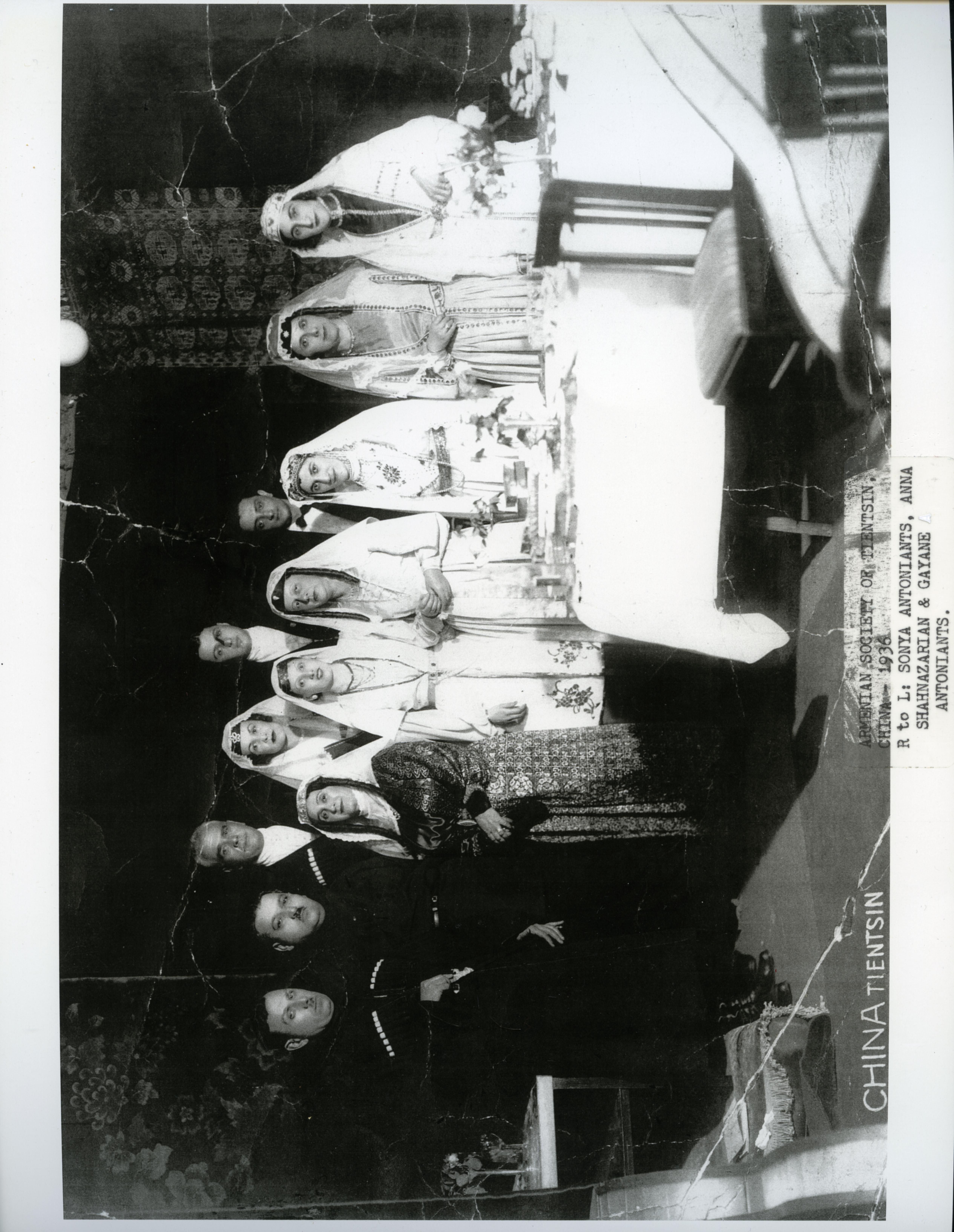 Portrait, Armenian group, Tientsin, China, 1936