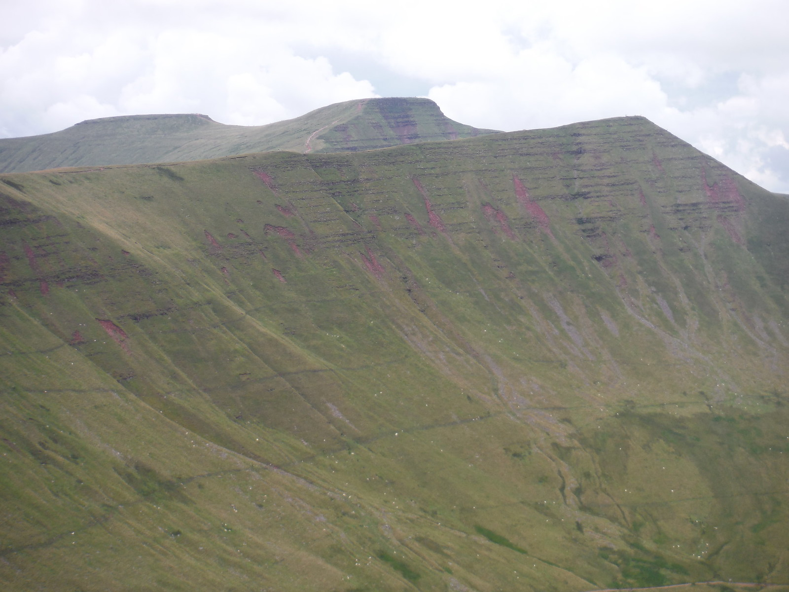 Cribyn, Pen y Fan and Corn Du, from Fan y Big SWC Walk 278 Breacon Beacons Horseshoe - Bannau Brycheiniog