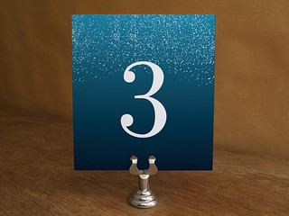 Starry Night Style Table Number Template Printable