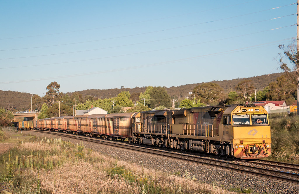 6029 and LDP007 on 3BM7 at North Goulburn. by Aaron Hazelgrove