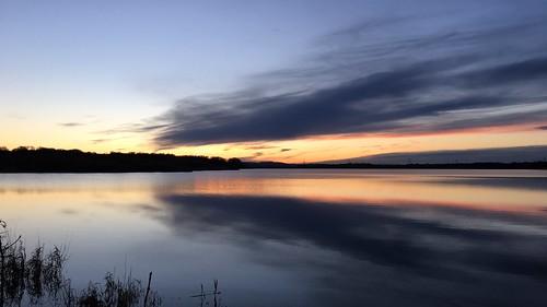 sunset lake water procamera årslevengsø