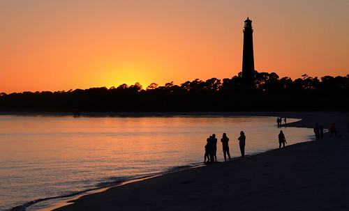 lighthouse sunset pensacola naval air station florida barrancas beach silhouette escambia county northwest bay nikon d7000 70300mm