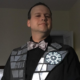 Death Star Jacket is finished & looks great...but I think I'm too sick to wear it to the party tonight. | by Jared Axelrod