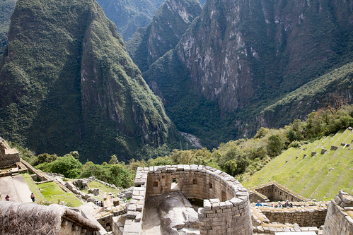 The Temple of the Sun at Machu Picchu. | by apardavila