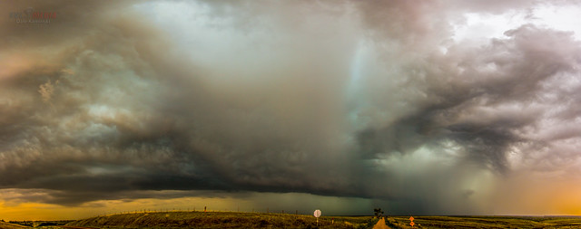 081116 - HP Thunderstorms in South Central Nebraska (Pano)