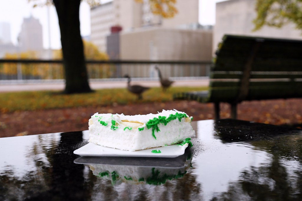 MacArthur Park: Someone left the cake out in the rain!   Flickr
