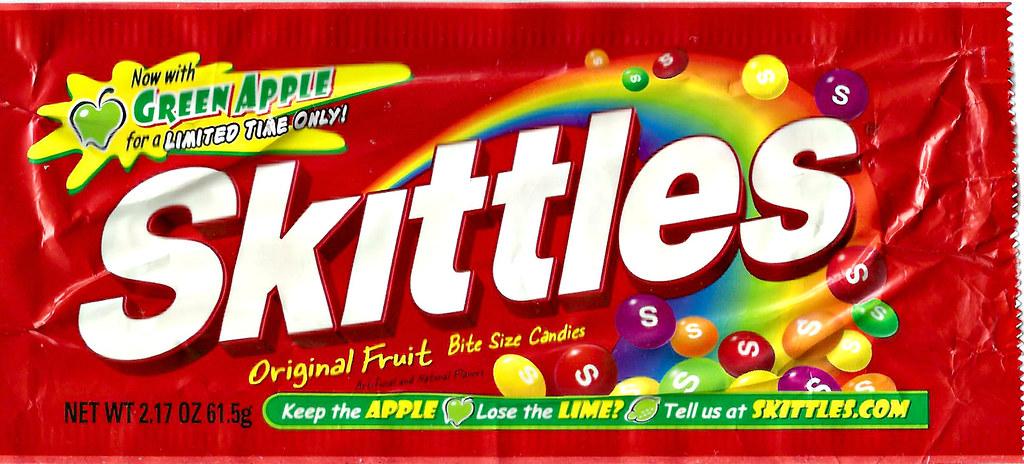 Skittles original flavor green apple vs  lime limited edit