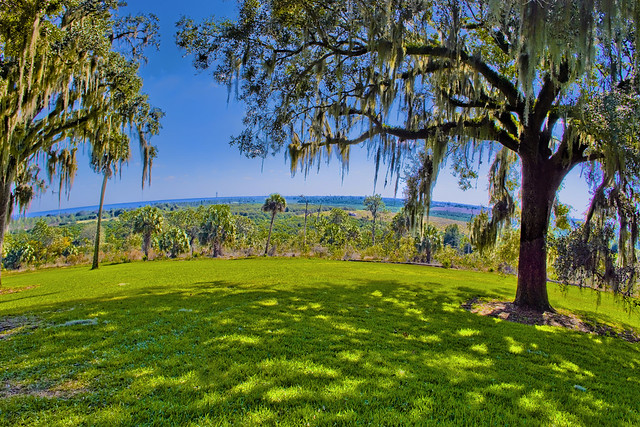 View from the summit of Iron Mountain @ the Bok Tower Gardens Sanctuary on the Lake Wales Ridge in Central Florida, USA