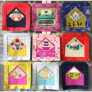 Yay!! 💕 Last night I finished the rest of the envelope blocks for my mail hanger! ✂️✉️✨ #patchworkplease #youvegotmailhanger #cottonandsteel @cottonandsteel #melodymiller @missletterm #kokka