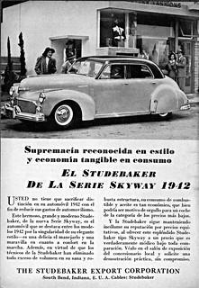 1942 Studebaker Skyway Sedan Ad (Argentina)