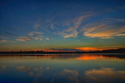 blue trees lake reflections louisiana warm horizon oxbow wisps bossiercity sonya7r