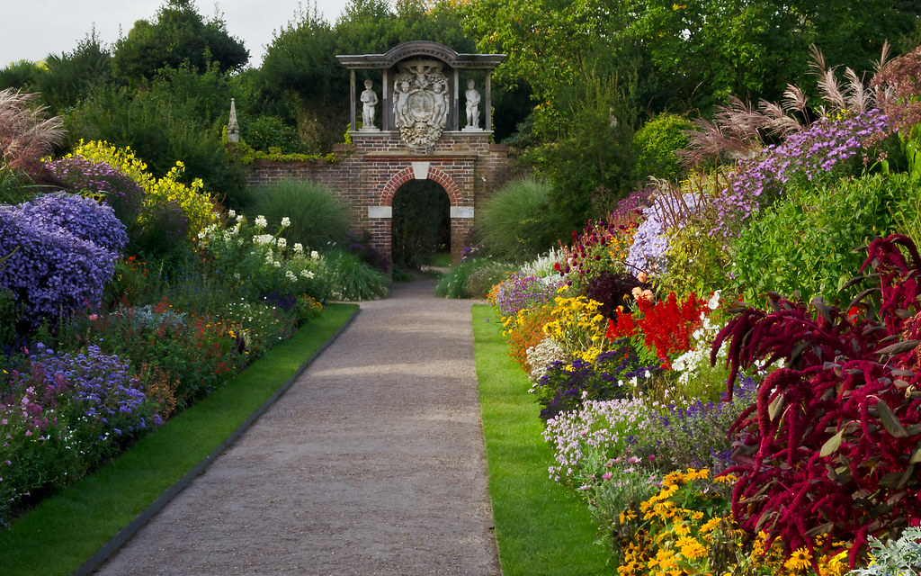 last of the summer flowers  nymans garden  sussex  uk