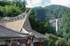 Nachi Waterfall and ornate roof 1