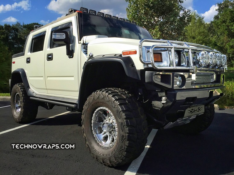 Hummer color change wrap in Orlando