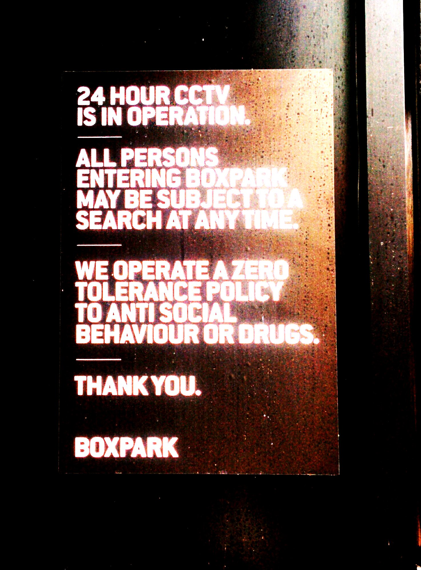 Dick and Jane visit Box Park, in the Surveillance State.