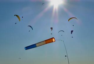 Paragliders over Westbury hill | by Sarah Ward Aviatrix
