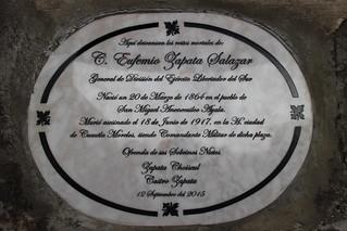 Placa conmemorativa al General Eufemio Zapata | by pacogaray