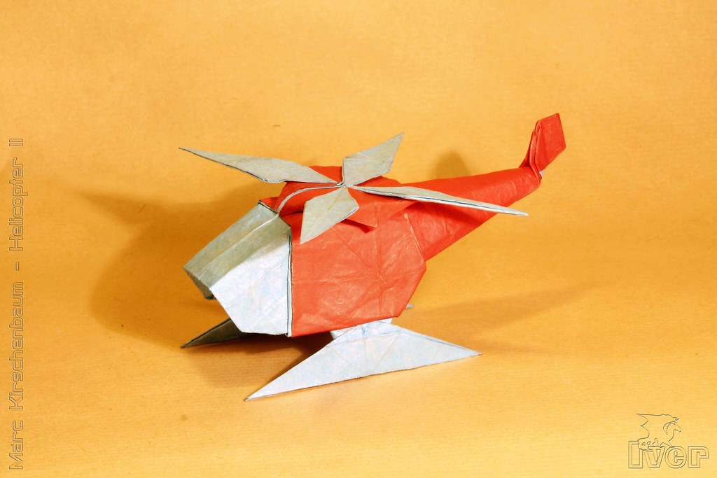 ORIGAMI - BOEING CH-47 CHINOOK HELICOPTER | Designed and fol… | Flickr | 683x1024