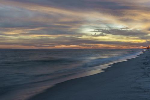 ocean sunset beach sunrise atardecer playa pensacola sundet