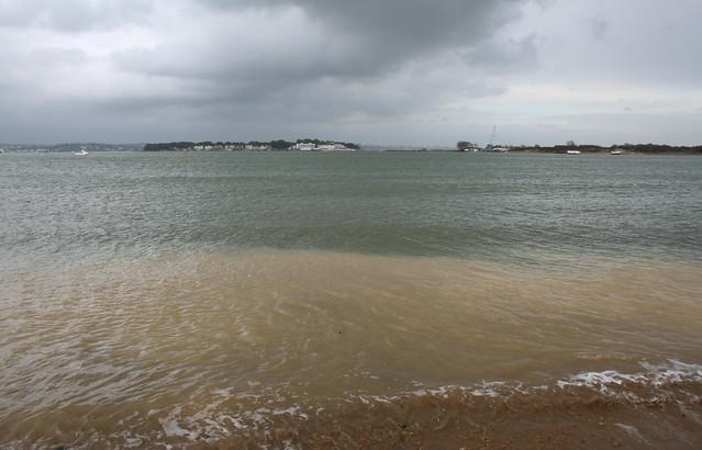 Sandbanks from Bramble Bush Bay