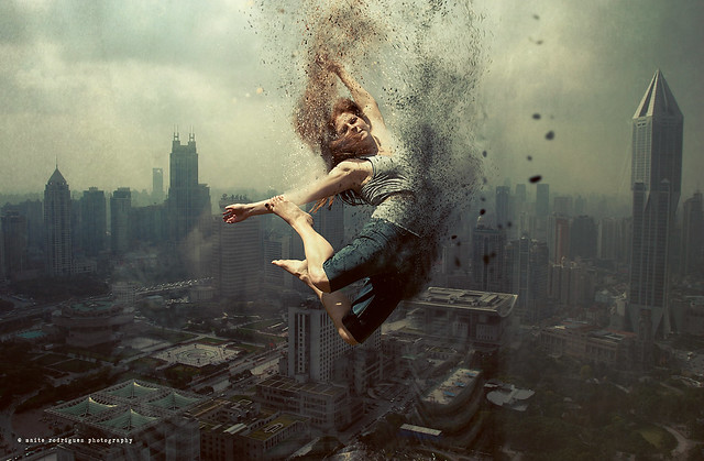 Jumping in the sky of Shanghai