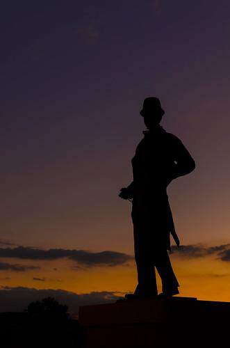 cumming forsyth johnforsyth silhouette forsythcounty sunset statue