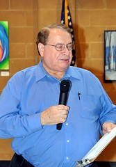Steve Wood circulated 2 sign-up sheets among the club today. 1 is for Friday, December 16th when the club pays its annual visit to the Total Life Center. The TLC is a day-care facility for mentally and physically challenged adults. Our club will be gifting all the people who use the center. It is a wonderful thing to see how well the center is run and to interact with the men and women who use the facility every day. The 2nd sign-up sheet was for club members who  want to visit with and have lunch with George Megill who is now residing, with his wife June, at Abbotswood. It's also the facility managed by our member Matt Towler.
