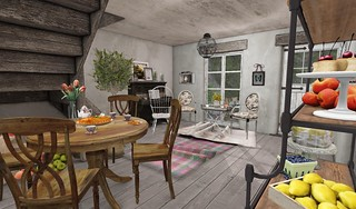 Farmhouse LR_View from Kitchen | by Hidden Gems in Second Life (Interior Designer)