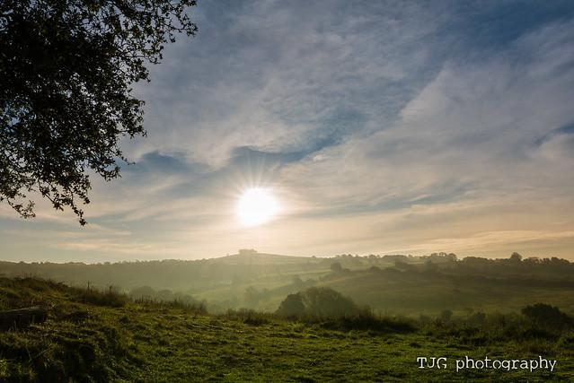 Sunrise over Kelston Roundhill