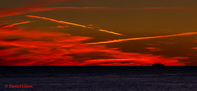 Sunset on the Delaware Bay from Cape May, NJ