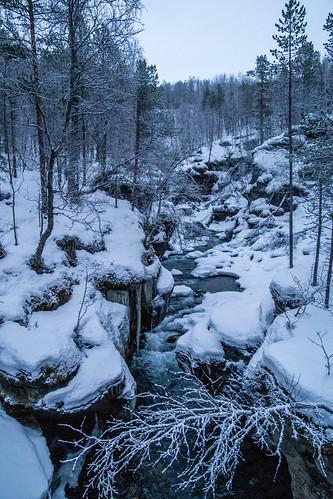 winter stream setermoen tverrelva bardujord