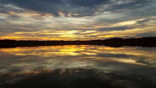 sunset clouds reflections