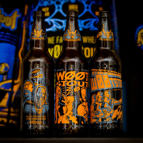 Three vintages of Stone Brewing Company w00tstout | by fourbrewers