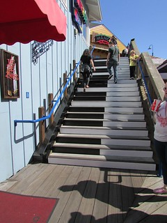 The stairs from the film Big - Musical Stairs by Remo Saraceni - Pier 39, Fishermans Wharf - San Francisco, California, USA | by Glen Bowman