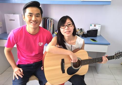 Adult guitar lessons Singapore Jolene