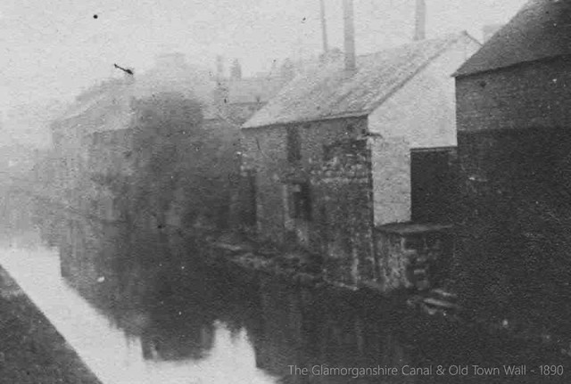 The Glamorganshire Canal, City Centre, 1890