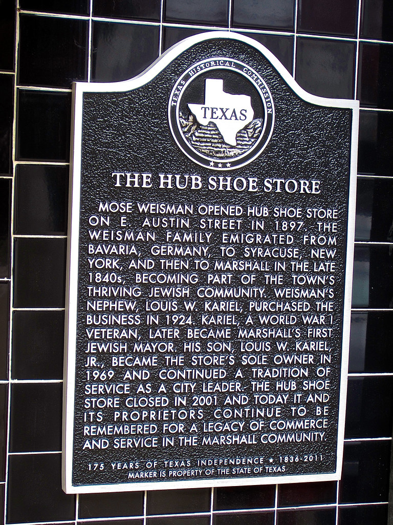 The Hub, Marshall, TX | Plaque on the side of the the histor… | Flickr