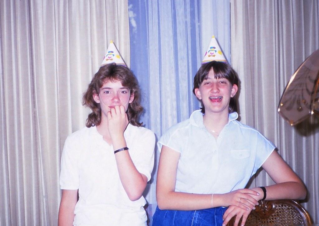 West Germany   -   Vaihingen   -   Patch Barracks   -   Bldg 2401  A6   -   Happy Birthday Jessica   -   Danita & Jessica   -   23 July 1987