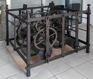 Mécanisme de l'horloge d'Orgelet