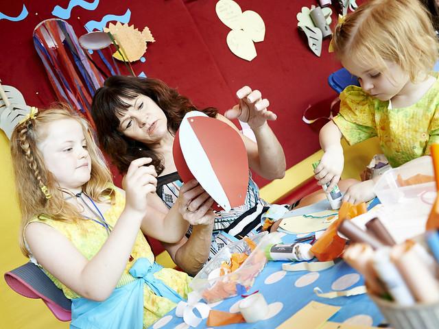 Children getting crafty