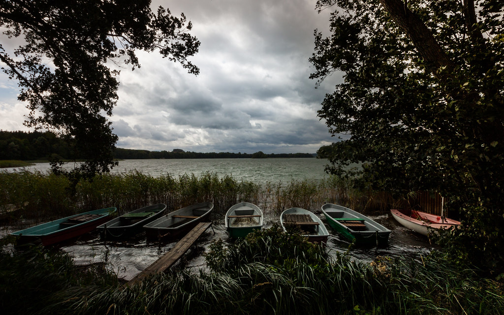 the lake, the storm, the boats, the reeds.