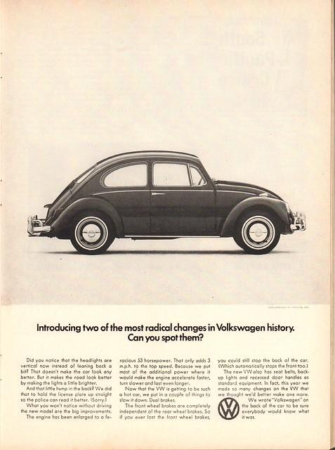 1966 Volkswagen Advertisement Newsweek September 26 1966