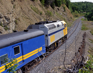 Via Rail Canada # 6430 diesel locomotive (Gascons, Quebec, Canada) (23 or 24 July 1989) 2