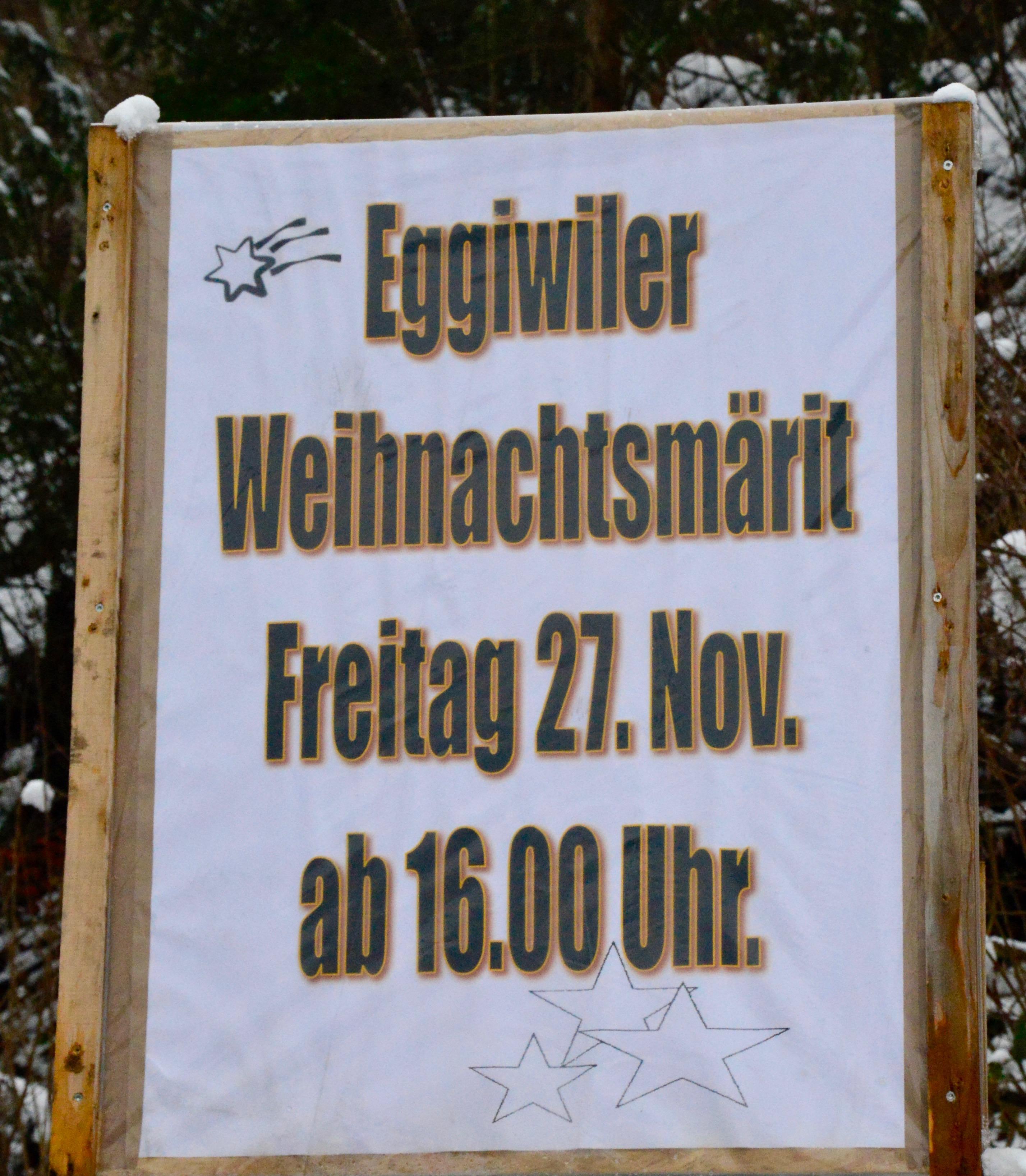 Eggiwiler Weihnachtsmärit Eggiwil Saison 2015/16