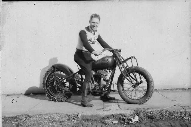 Harland Krause, 1941 National Hill Climb Champion, Indian Motorcycle,