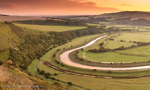 park england rural sunrise river sussex high bend south farming over east national valley frogs alfriston doen cuckmere firle downland